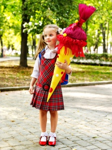 Girl with her schultüte (school cone)
