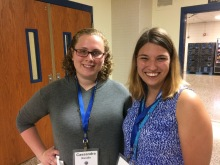 Photo of Marissa Johnson and Cassandra Randis, new teachers at Riverview Elementary.