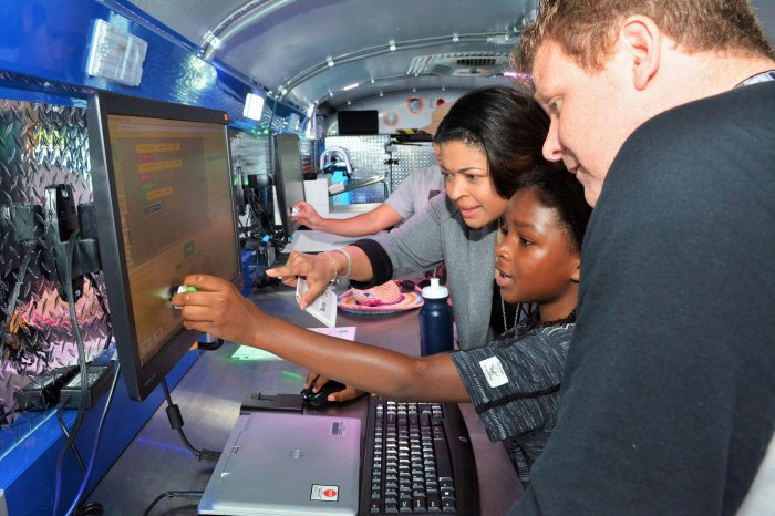 Photo of Interim Superintendent Verletta White inside the BCPS Mobile Innovation Lab