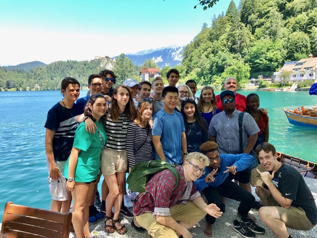 Photo of American Music Abroad students in Slovenia.