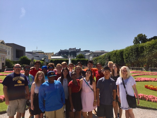 Photo of American Music Abroad participants in Salzburg, Austria.