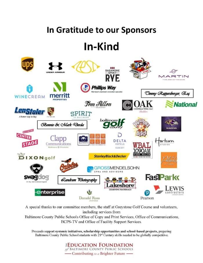 Thanks sponsors