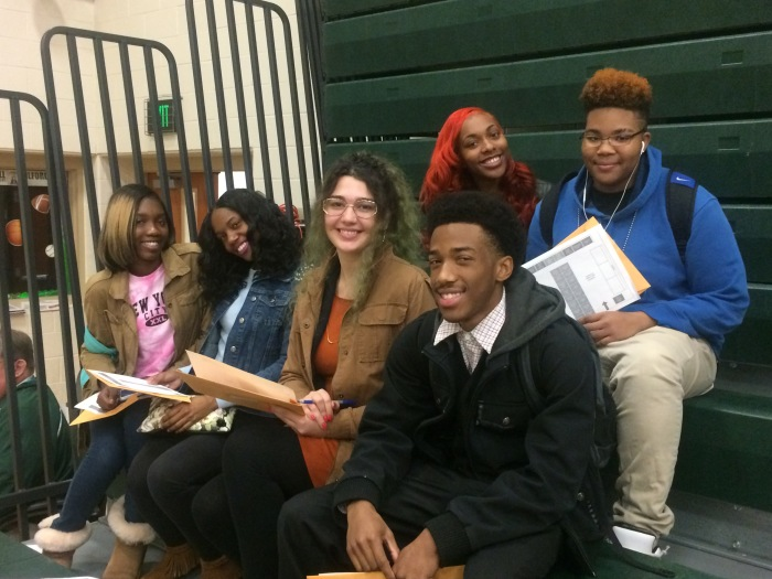 Overlea High students at the HBCU-BCPS college fair