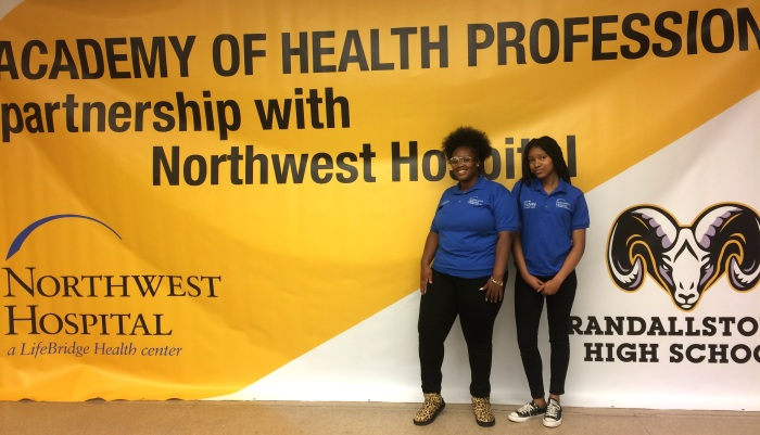Photo of Randallstown High Academy of Health Professions students