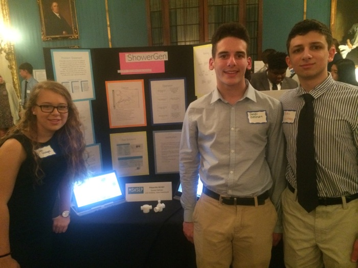 Pikesville High students present at symposium.