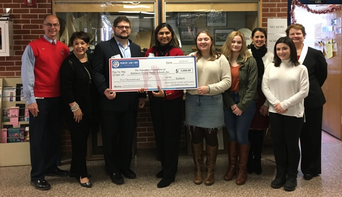 Murthy Law Firm donation to Franklin High